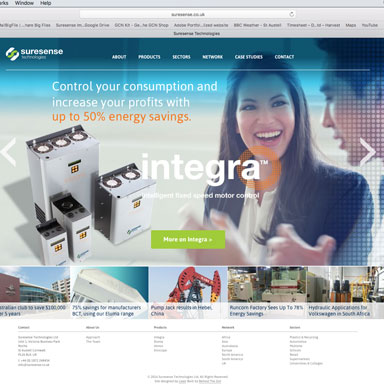 New Headers For Suresense Website
